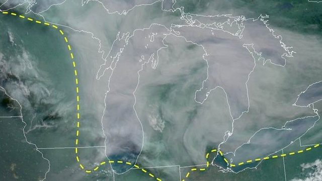 Canadian wildfire smoke lingers over Michigan