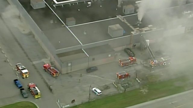 Machine fire burns at Ford Sterling Axle Plant