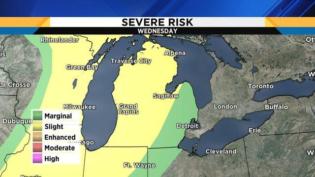 Metro Detroit: Severe storm threat looms on Wednesday