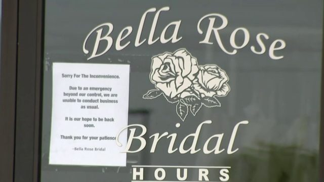 Brides scrambling to find dresses after Bella Rose Bridal Boutique…