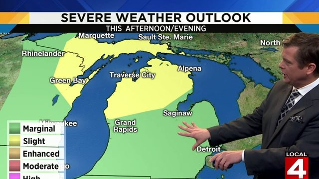 Metro Detroit weather: Steamy day with severe storm chances