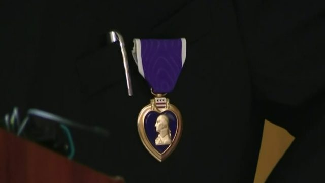 98-year-old World War 2 veteran receives Purple Heart