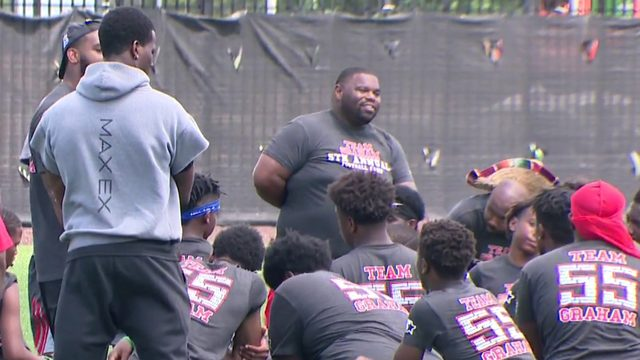 Brandon Graham holds 5th annual Team Graham football camp at Detroit PAL field
