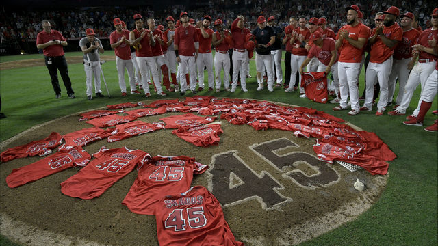 Jamie Edmonds: Los Angeles Angels pay tribute to Tyler Skaggs with no-hitter
