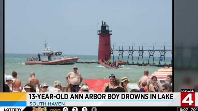 13-year-old Ann Arbor boy drowns during family trip to South Haven beach