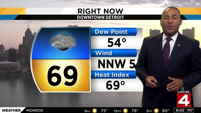 Metro Detroit weather forecast: Hot with less humidity Sunday