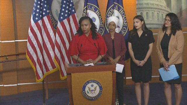WATCH: Tlaib, congresswomen hold news conference following Trump's…