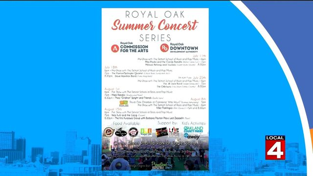 Things are heating up at the Royal Oak Summer Concert Series