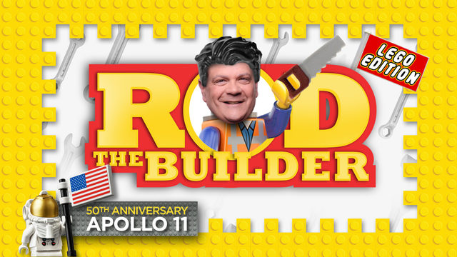 WATCH LIVE: Rod the Builder's Apollo 11 LEGO challenge
