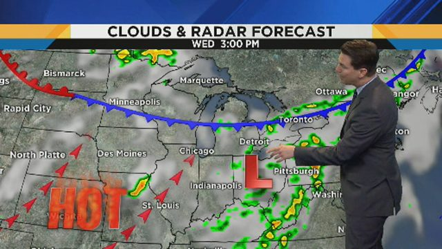 Metro Detroit weather: High humidity, rain chances continue into middle of week