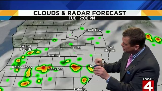 Metro Detroit weather: Clouds, rain showers today