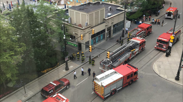 Video shows flames from grease fire at Parc restaurant in Campus Martius