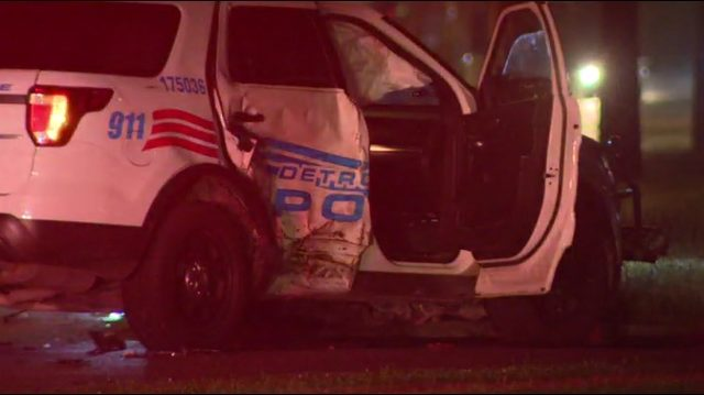 Detroit Police vehicle involved in crash on city's west side