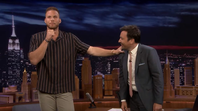 Blake Griffin shows Jimmy Fallon why post-game interviews are terrible