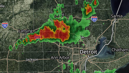 Thunderstorm warning issued for Livingston, Oakland counties