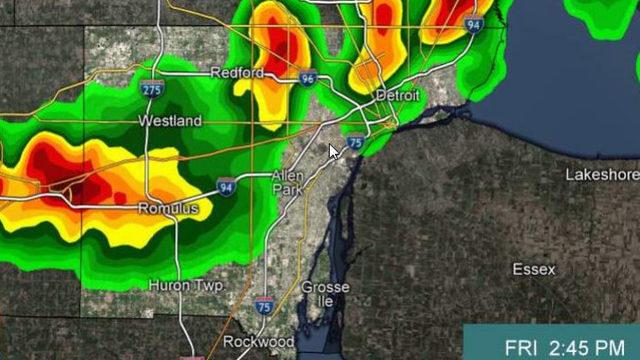 Thunderstorm warning issued for Washtenaw, Wayne counties