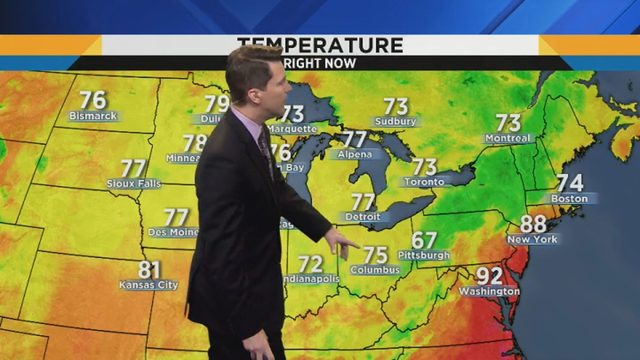 Metro Detroit weather: Lower temperatures, humidity for stretch this week