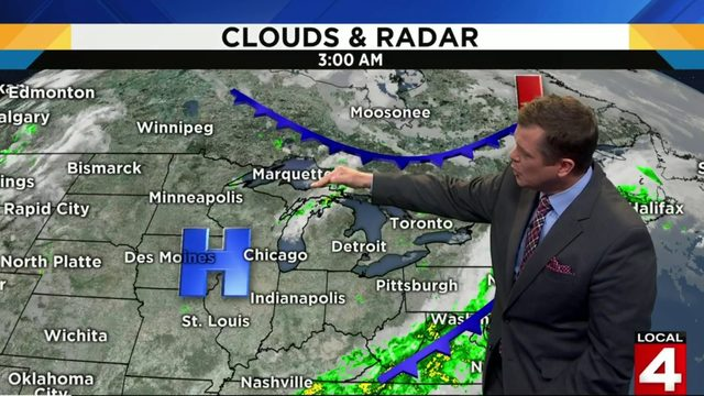Metro Detroit weather: Shower chances return this evening