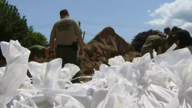 Sandbagging operation underway in Harrison Township