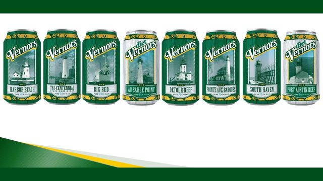 Vernors launches limited edition cans featuring Michigan lighthouses