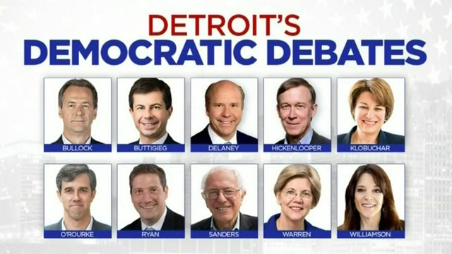 Follow live updates: First night of Democratic Debates in Detroit