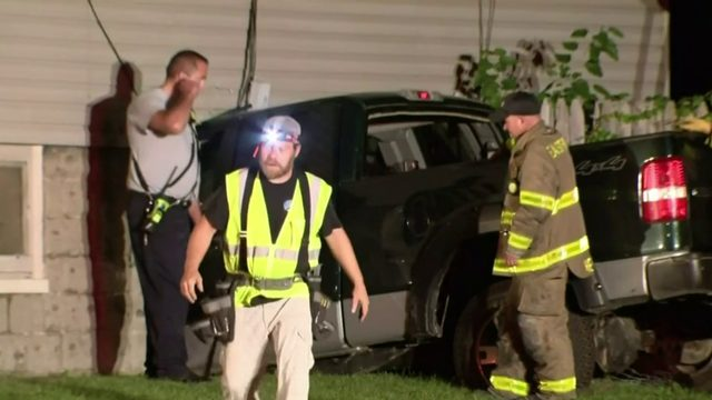 Man killed when pickup truck slams into Eastpointe home