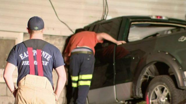 Man suffering medical emergency dies after slamming truck into Eastpointe home
