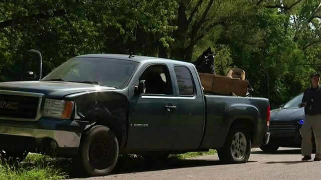 Truck stolen 2 years ago located during illegal dumping investigation in Detroit
