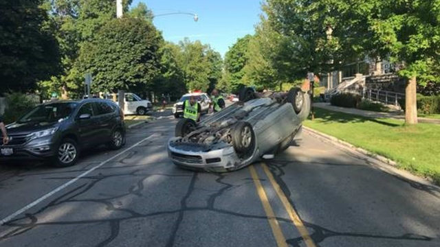 82-year-old Michigan woman flips car trying to avoid squirrel