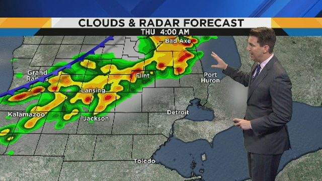 Metro Detroit weather: Scattered showers before humidity begins to drop