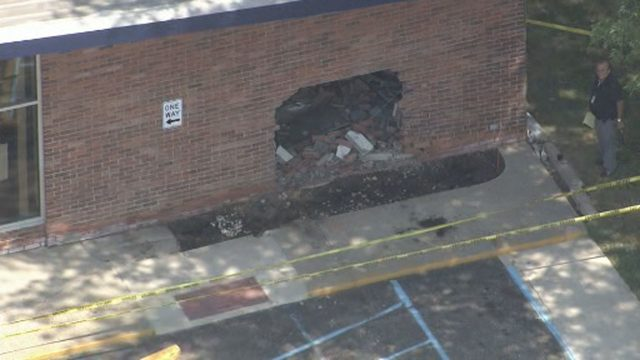 Car crashes through brick wall of New Baltimore post office
