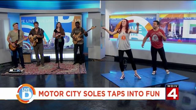 Motor City Soles taps away the morning