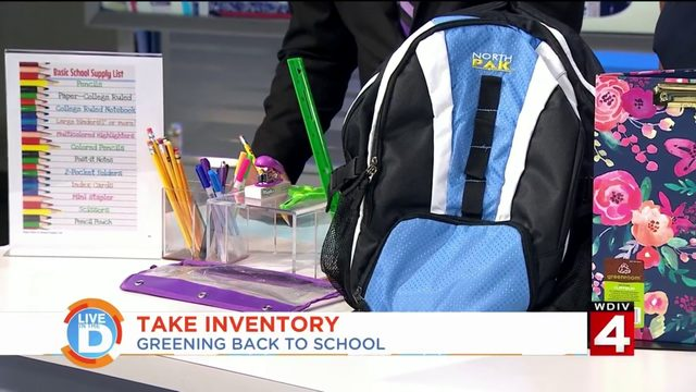 Going back to school can be a lesson in going green