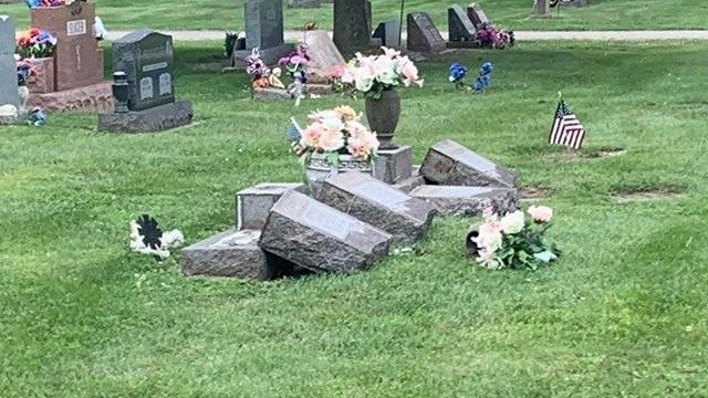South Lyon police: 15-20 headstones vandalized at cemetery