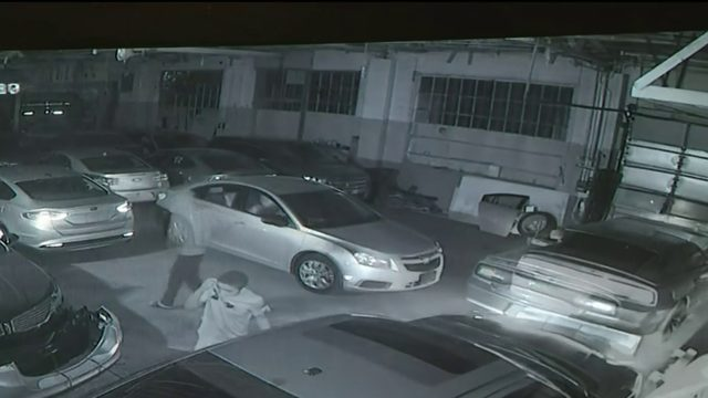 VIDEO: Thieves steal multiple cars from dealership on Detroit's west side