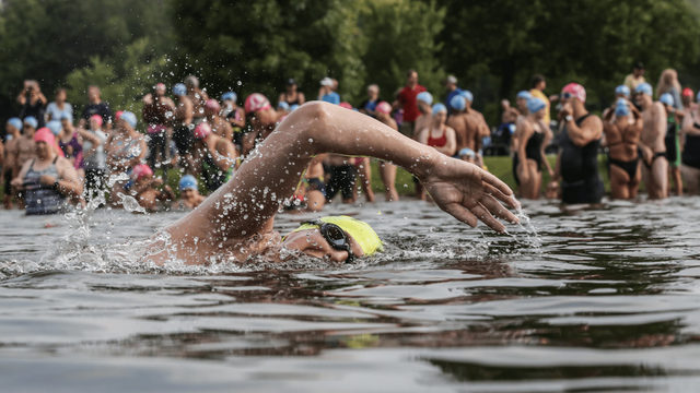 Swim to the Moon celebrates 10 years of open water races in Southeast Michigan
