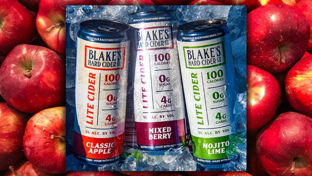 Blake's Hard Cider announces 3 sugar-free Lite Ciders debuting ahead of fall