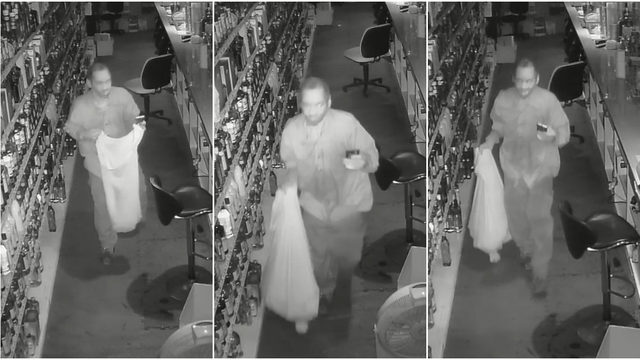 Police seek man seen on video breaking into multiple liquor stores in Detroit