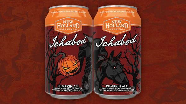 New Holland Brewing Co.'s Halloween-themed Ichabod Pumpkin Ale returns for fall