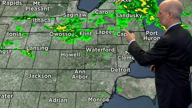 Metro Detroit weather: Scattered showers, thunderstorms possible today