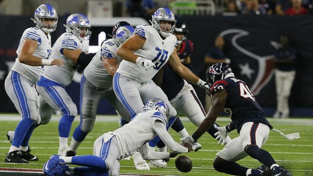 Stafford doesn't play, Lions lose to Texans in 2nd preseason game, 30-23