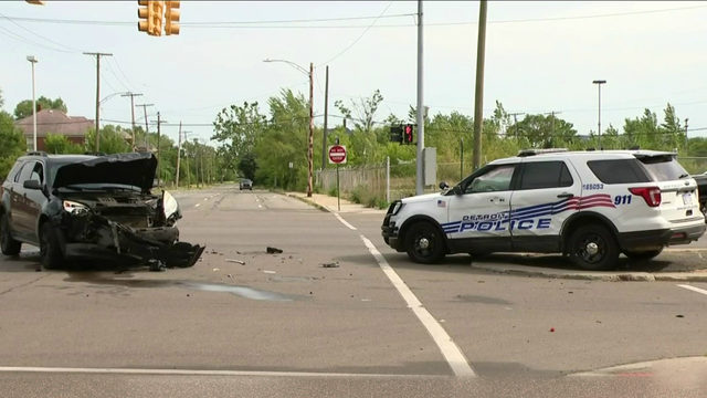 Police cruiser involved in collision on Detroit's west side