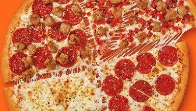 Meet the new Little Caesars Quattro pizza