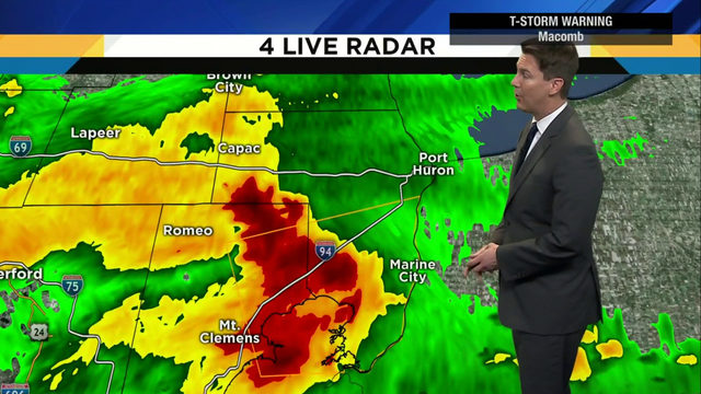 Metro Detroit weather: Storms moving out