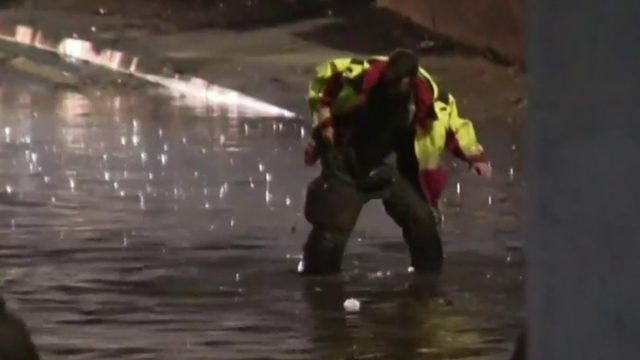 VIDEO: Detroit firefighters rescue family trapped in floodwaters after…