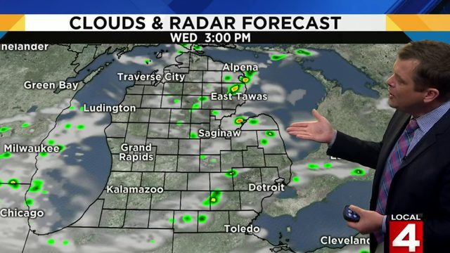 Metro Detroit weather: Hot and muggy today, scattered rain possible