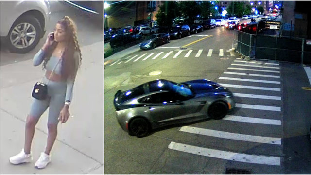 Woman driving Corvette strikes woman standing by truck in Downtown…
