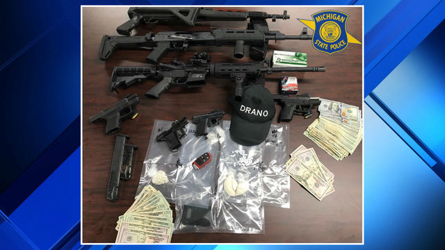 Drugs, assault rifles, heroin processing area found during searches in…
