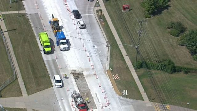 Evacuations over in Madison Heights after gas main break on 13 Mile Road