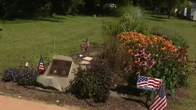 Vandals destroy veterans' peace garden in Shelby Township
